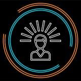Ícone da mente Ilustração do elemento do logotipo ilustração do vetor
