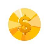 Ícone da moeda Imagens de Stock