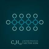 Ícone da molécula do butano Imagens de Stock