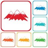 Ícone da montanha Ilustração do conceito do vetor Imagem de Stock Royalty Free