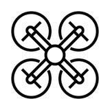 Ícone da mosca do zangão ilustração do vetor