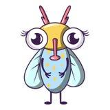 Ícone da mosca do zumbido, estilo dos desenhos animados ilustração do vetor