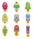 Ícone da nave espacial dos desenhos animados Imagens de Stock