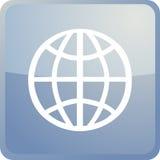 Ícone da navegação do globo Fotografia de Stock