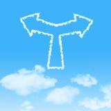 ícone da nuvem com projeto no céu azul Fotos de Stock Royalty Free