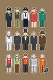Ícone da ocupação ilustração stock