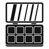 Ícone da paleta da composição, estilo simples Imagens de Stock