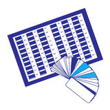 Ícone da paleta de cor Imagem de Stock