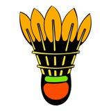Ícone da peteca, desenhos animados do ícone ilustração stock