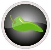 Ícone da pimenta de pimentão Fotos de Stock
