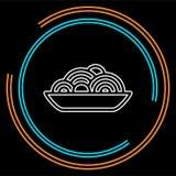 Ícone da placa da massa - espaguete do vetor ilustração do vetor
