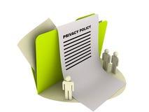 Ícone da política de privacidade Fotos de Stock