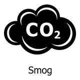 Ícone da poluição atmosférica, estilo simples ilustração royalty free