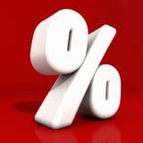 ícone da porcentagem 3d Fotografia de Stock