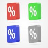 Ícone da porcentagem do vetor Fotografia de Stock