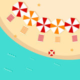 Ícone da praia liso Foto de Stock