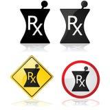 Ícone da prescrição Foto de Stock