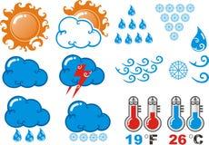Ícone da previsão de tempo Ilustração do Vetor