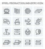 Ícone da produção de aço ilustração stock