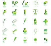 ícone da química 3d Foto de Stock