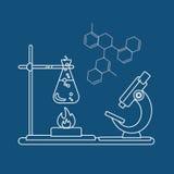 Ícone da química Ilustração do vetor Fotografia de Stock Royalty Free
