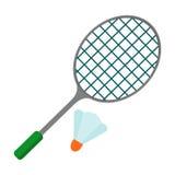 Ícone da raquete de badminton ilustração do vetor
