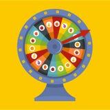 Ícone da roda da fortuna, estilo liso ilustração stock