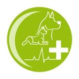Ícone da saúde do cão no fundo branco Foto de Stock