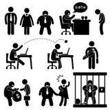 Ícone da saliência do escritório de negócio engraçado Fotografia de Stock