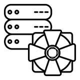 Ícone da segurança, ícone da proteção do servidor ilustração royalty free