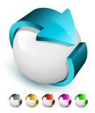 ícone da seta 3D Imagens de Stock