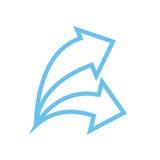 Ícone da seta Imagens de Stock