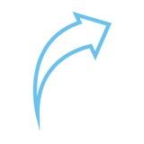 Ícone da seta Imagem de Stock