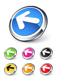 Ícone da seta esquerda Imagens de Stock