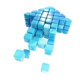 Ícone da seta feito dos cubos isolados Imagem de Stock