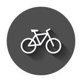 ícone da silhueta da bicicleta Fotos de Stock