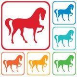 Ícone da silhueta do cavalo Foto de Stock