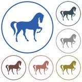 Ícone da silhueta do cavalo Fotos de Stock