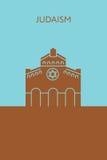 Ícone da sinagoga judaism Construção religiosa ilustração stock