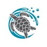 Ícone da tartaruga de mar ilustração royalty free