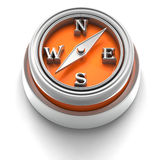 Ícone da tecla: Compasso Imagem de Stock