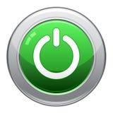 Ícone da tecla da potência Fotografia de Stock