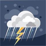 Ícone da tempestade do mau tempo ilustração stock