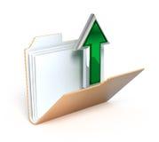 Ícone da transferência de arquivo pela rede Imagem de Stock