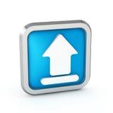 Ícone da transferência de arquivo pela rede Fotografia de Stock