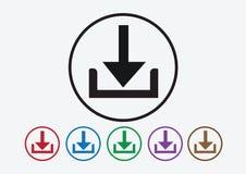 Ícone da transferência e de símbolo da transferência de arquivo pela rede botão ilustração do vetor