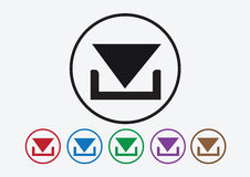 Ícone da transferência e de símbolo da transferência de arquivo pela rede botão ilustração royalty free