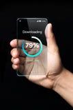 Ícone da transferência no smartphone Imagens de Stock Royalty Free