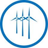 Ícone da turbina de vento do vetor ilustração stock