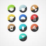 Ícone da Web de alimento Imagem de Stock